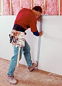 Author Steadies Drywall Square