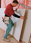 Breaking Drywall Sheet in Two