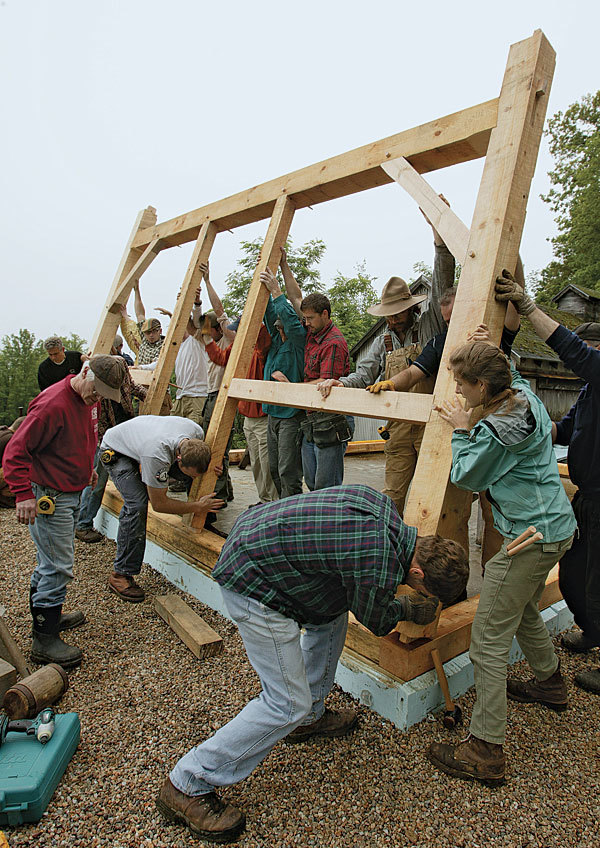 the real magic lies in the joinery of timberframe