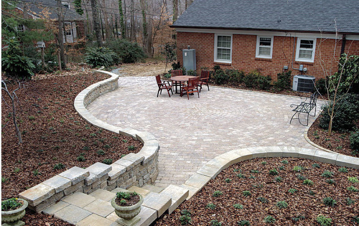 a concrete paver patio from the bottom up fine homebuilding rh finehomebuilding com large pavers for backyard pavers for small backyard