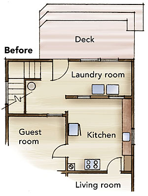 floor plan from before remodeling