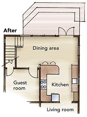 floor plan after remodel