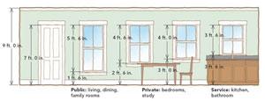 Taller rooms call for taller windows