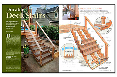 how to build decking stairs on uneven ground