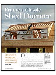 Frame A Classic Shed Dormer Fine Homebuilding