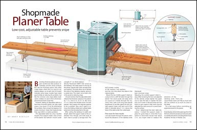 How To Build A Shopmade Planer Table Fine Homebuilding