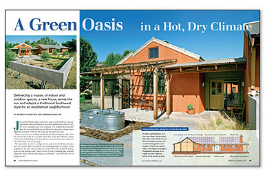 A Green Oasis in a Hot, Dry Climate - Fine Homebuilding on south texas house plans, deep south house plans, south west history, west coast house plans, south shore house plans, east west house plans, open wood cathedral ceiling plans, south west windows, south west house architecture, south west design, south west landscaping ideas, southwest home floor plans, south west medical, south east house plans,
