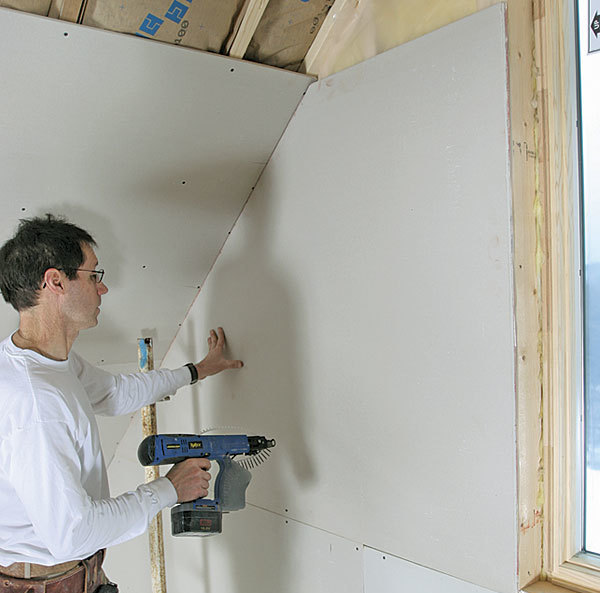 How To Hang Drywall On A Gable End Fine Homebuilding