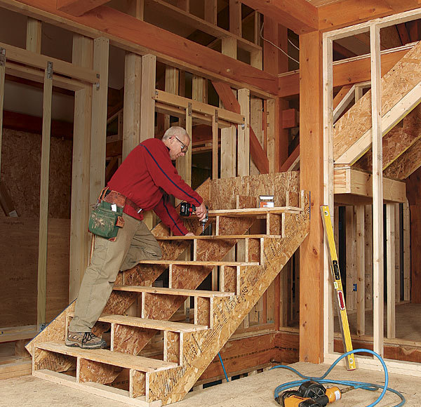 Basement Stair Landing Decorating: Framing Stairs With A Landing