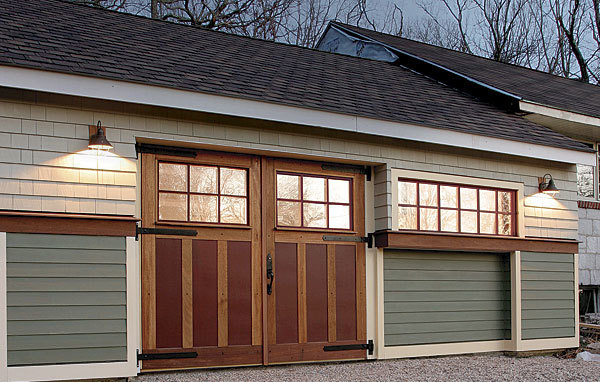 Dress up a garage door with insulated carriage doors for Build carriage garage doors