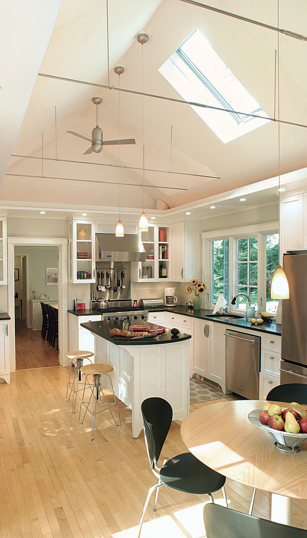 White High Ceiling Kitchen
