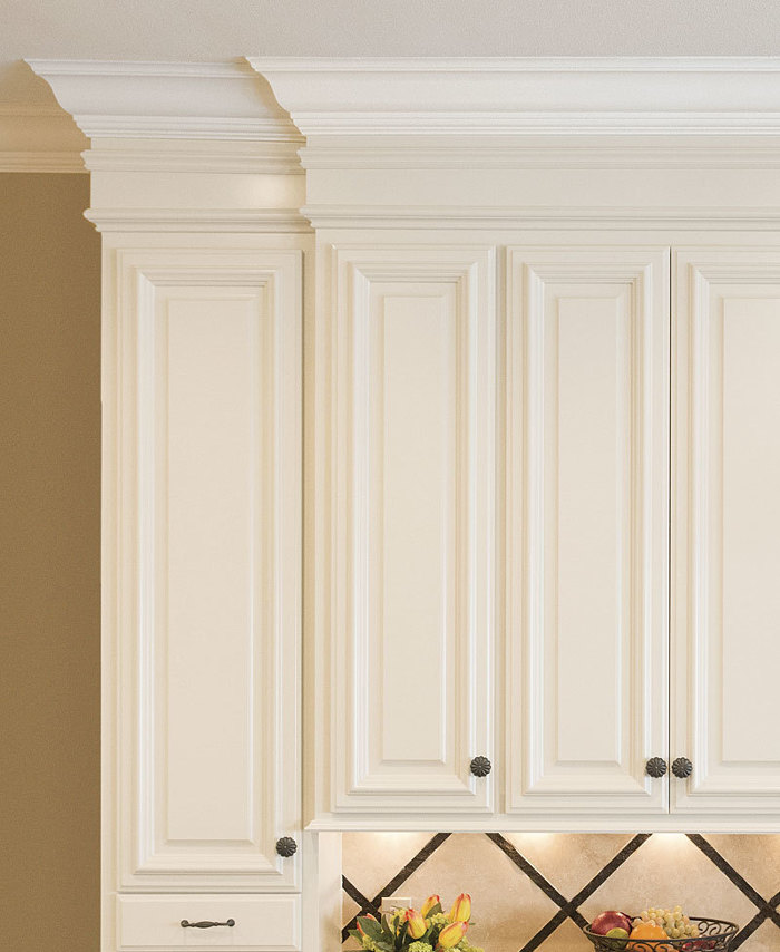 Decorative molding for kitchen cabinet doors mf cabinets for Adding crown molding to existing kitchen cabinets