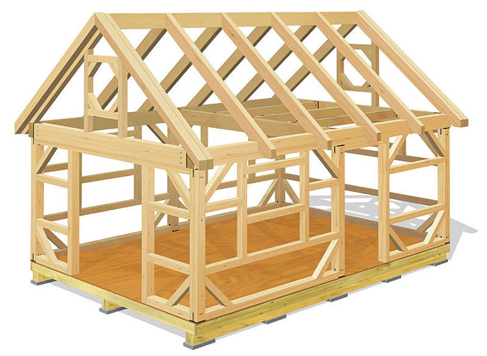 21st century post and beam barn fine homebuilding for Maine post and beam kits