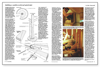 Synopsis: This Article Explains How The Author Made A Circular Stair Around  A 20 Ft. Long Piece Of Yellow Cedar Driftwood. Positioning Of The Treads  Was ...