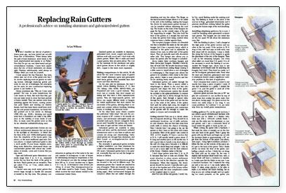 Replacing Rain Gutters - Fine Homebuilding
