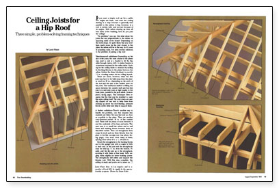 Ceiling Joists For A Hip Roof Fine Homebuilding