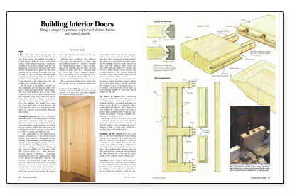 He uses dowel joinery and cope-and-stick shaper cutters. He pays particular attention to making a door with two arch-topped panels.  sc 1 st  Fine Homebuilding & Building Interior Doors - Fine Homebuilding