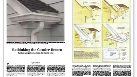 Rethinking The Cornice Return Fine Homebuilding