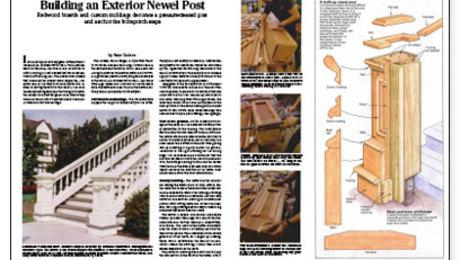 Building An Exterior Newel Post Fine Homebuilding