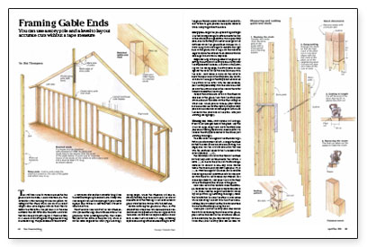 Framing Gable Ends Fine Homebuilding