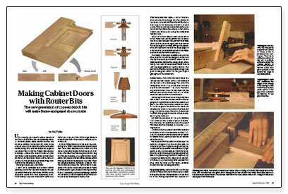 Making Cabinet Doors with Router Bits - Fine Homebuilding