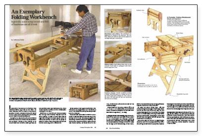 An Exemplary Folding Workbench Fine Homebuilding