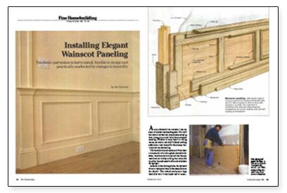 Installing Elegant Wainscot Paneling Fine Homebuilding