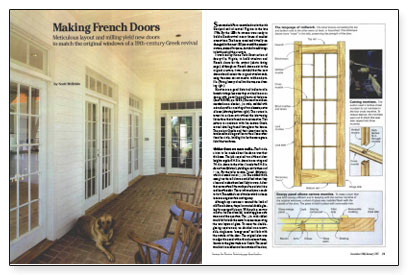 Contributing editor Scott McBride details the construction of ided-light French doors intended for an 1820s Greek Revival style house in Virginia. & Making French Doors - Fine Homebuilding