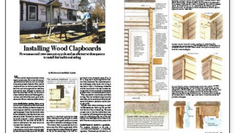 Installing Wood Clapboards Fine Homebuilding