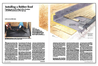Installing A Rubber Roof Fine Homebuilding