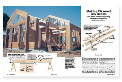 Making plywood box beams fine homebuilding for How to build a box beam