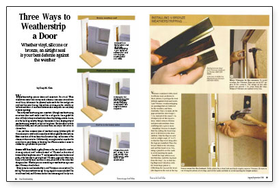 Article Image  sc 1 st  Fine Homebuilding & Three Ways to Weatherstrip a Door - Fine Homebuilding