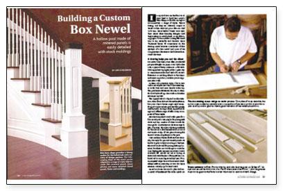 Building a Custom Box Newel - Fine Homebuilding