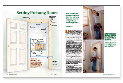 Setting prehung doors fine homebuilding for Hanging interior prehung doors