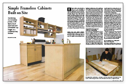 ... Kitchen Cabinets Can Be Made On Site With No Specialized Tools And  Without Complicated Joinery. Parts For These Contemporary Frameless Cabinets  Are Made ...