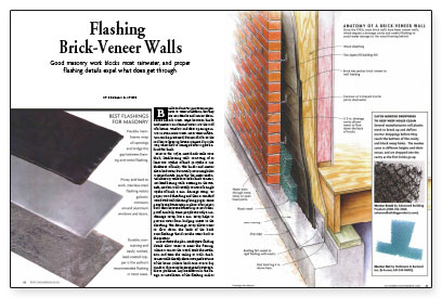 Flashing Brick Veneer Walls Fine Homebuilding