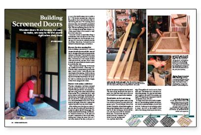 Building Screened Doors Fine Homebuilding