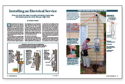 Installing an Electrical Service - Fine Homebuilding