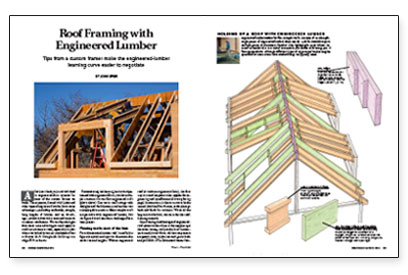 Roof Framing With Engineered Lumber Fine Homebuilding