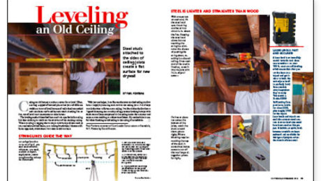 Leveling An Old Ceiling Fine Homebuilding