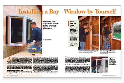Installing a Bay Window by Yourself - Fine Homebuilding on crack a window, install trim around small window, fillers around window, framing around a window, framing 2x4 window, clean a window,