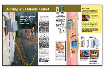 adding an outside outlet fine homebuilding rh finehomebuilding com Electrical Circuit Diagrams Alarm Circuit Wire