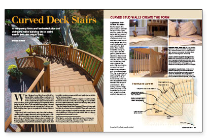 curved deck stairs fine homebuilding