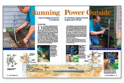Running Power Outside - Fine Homebuilding