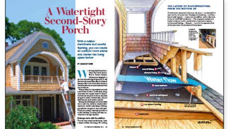 A Watertight Second Story Porch Fine Homebuilding