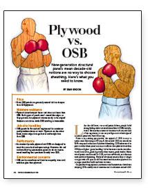 Plywood Vs Osb Fine Homebuilding