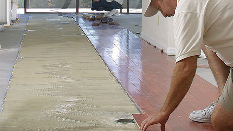 Glue Wood Flooring To A Concrete Slab Fine Homebuilding