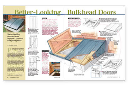 Better Looking Bulkhead Doors Fine Homebuilding