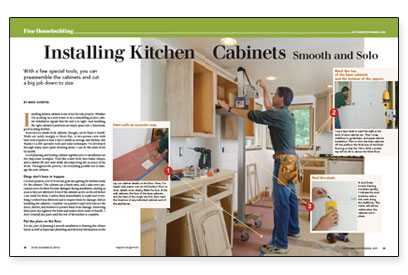 Installing Kitchen Cabinets Smooth And Solo Fine Homebuilding - How to hang kitchen cabinets