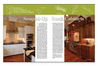 Synopsis: Even If Youu0027re Limited To Standard Cabinets From A Home Center,  There Are Ways To U201dcustomizeu201d Your Kitchen. Contributing Editor Gary  Striegler ...